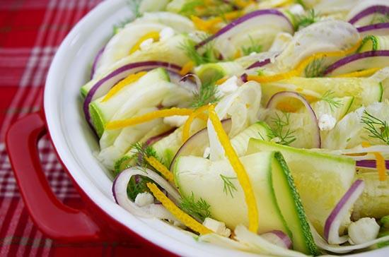 Grey Squash and Citrus Salad