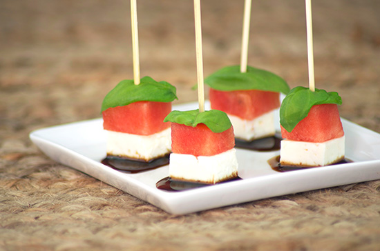 Watermelon Feta Sticks