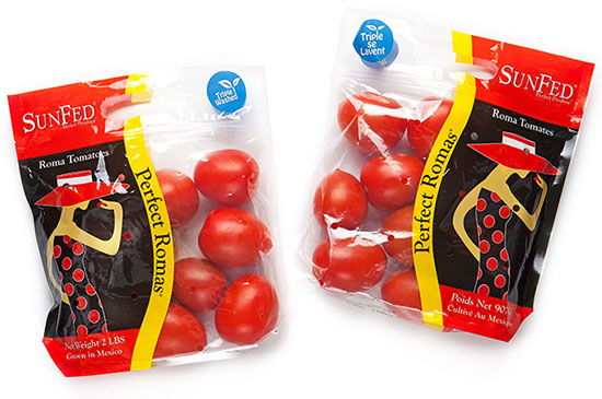 packaged roma tomatoes